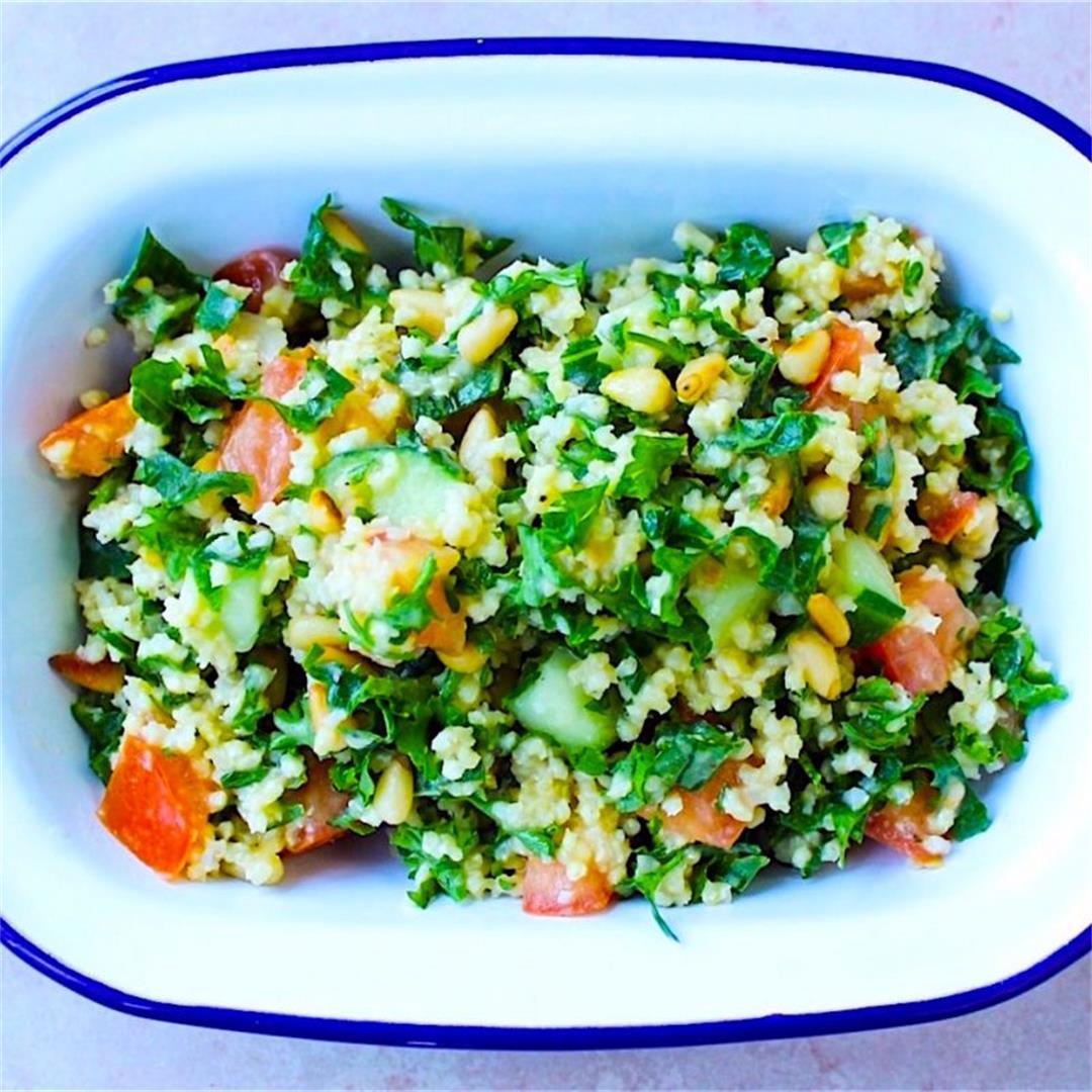 Lemony Millet Tabbouleh (vegan + gluten-free)