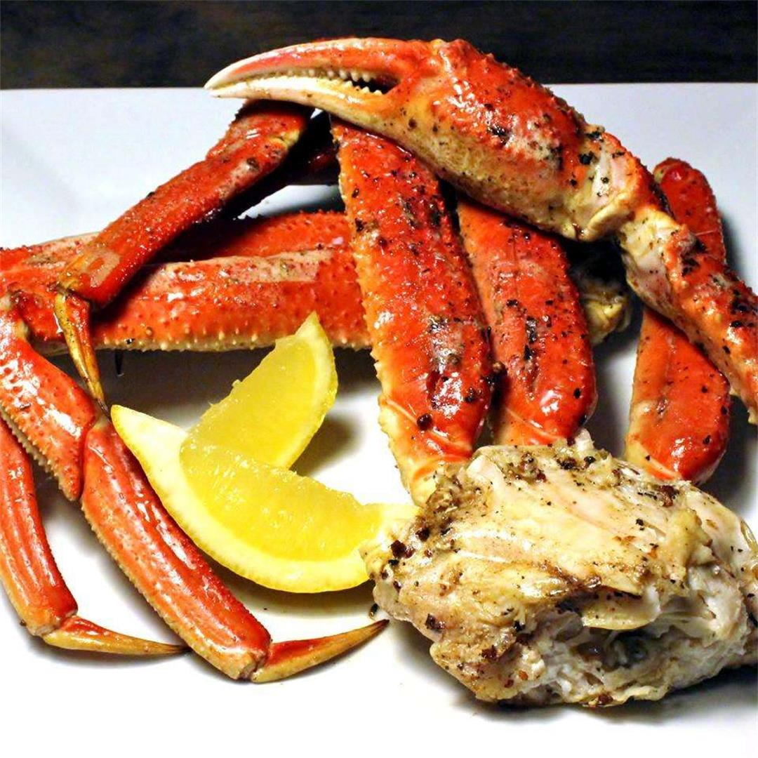 King Crab Legs With Garlic Butter