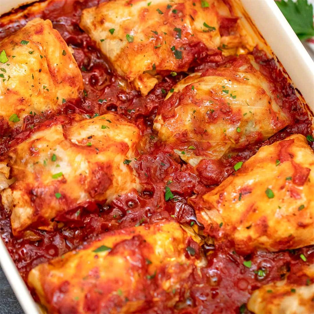 The BEST EVER Stuffed Cabbage Rolls Recipe