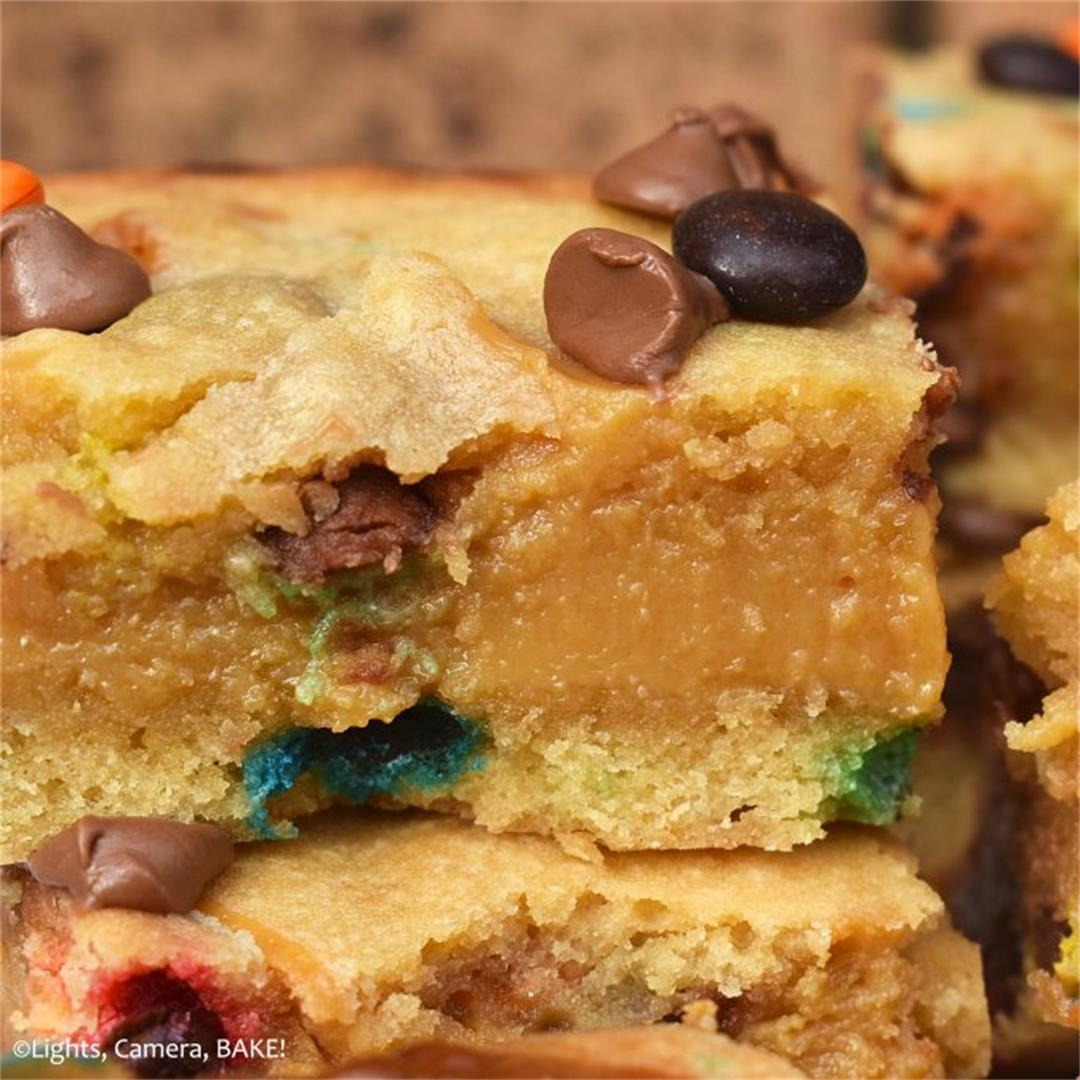 M&M Caramel Cookie Bars