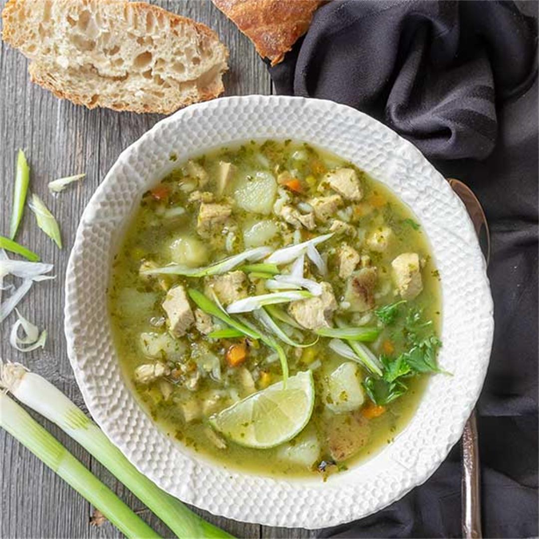 Peruvian Chicken Soup (Gluten-Free)