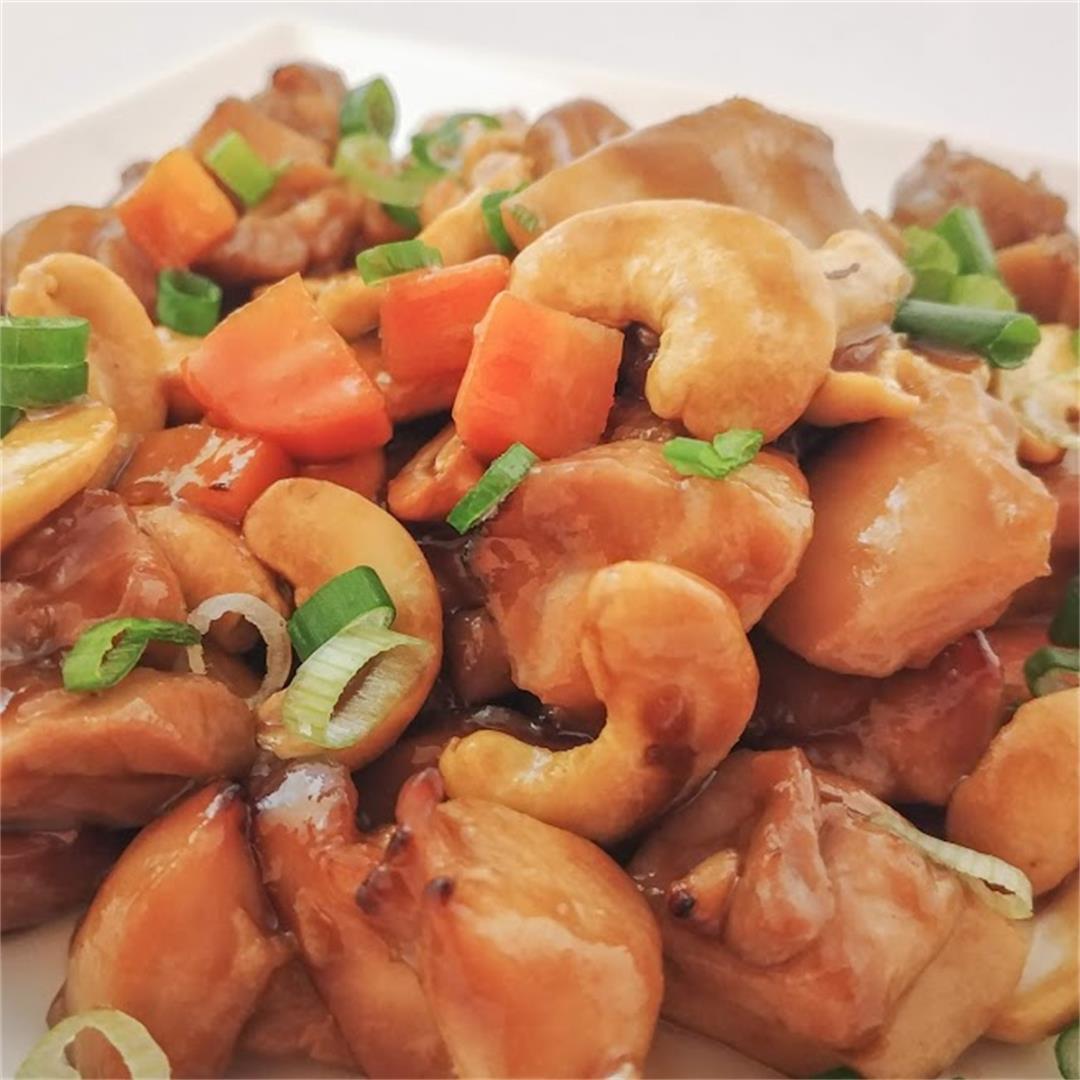 Air Fryer Cashew Chicken