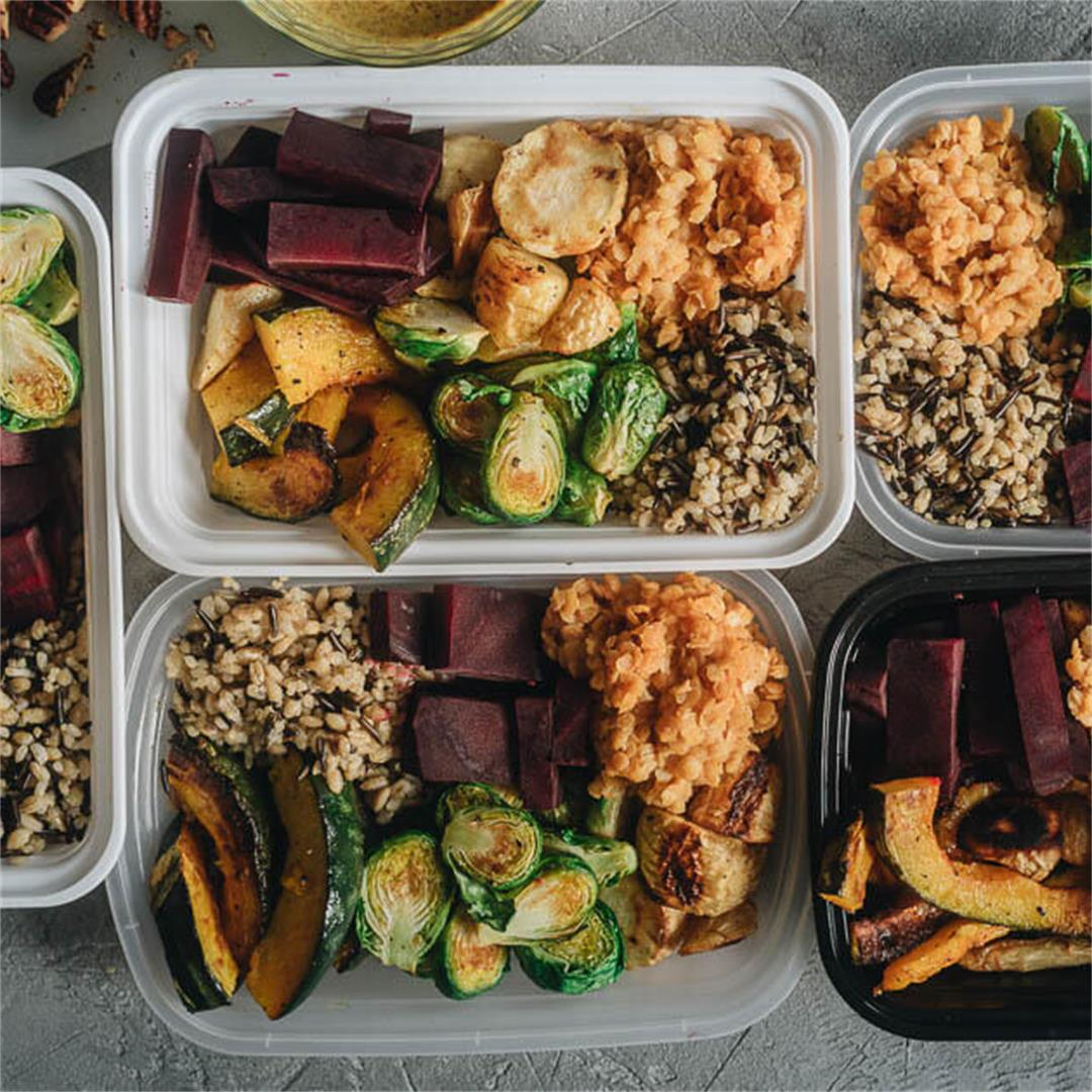 Winter Buddha Bowl Meal Prep