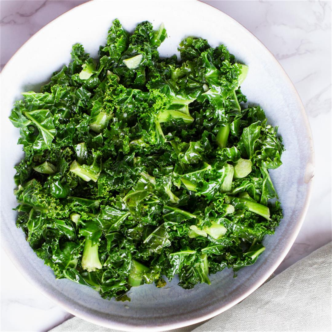 3 Minute Garlic Butter Wilted Kale