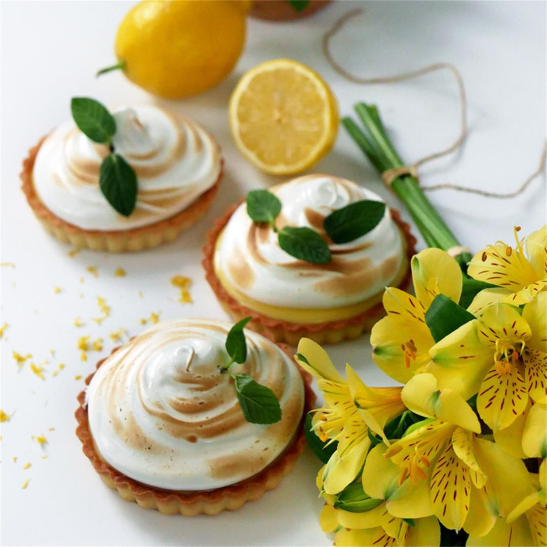 Lemon Mint Meringue Pie