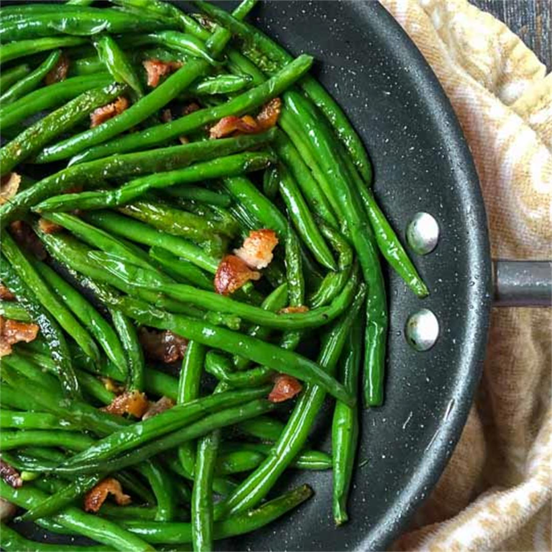 Easy Low Carb Green Beans & Bacon -tasty keto side dish in 15 m