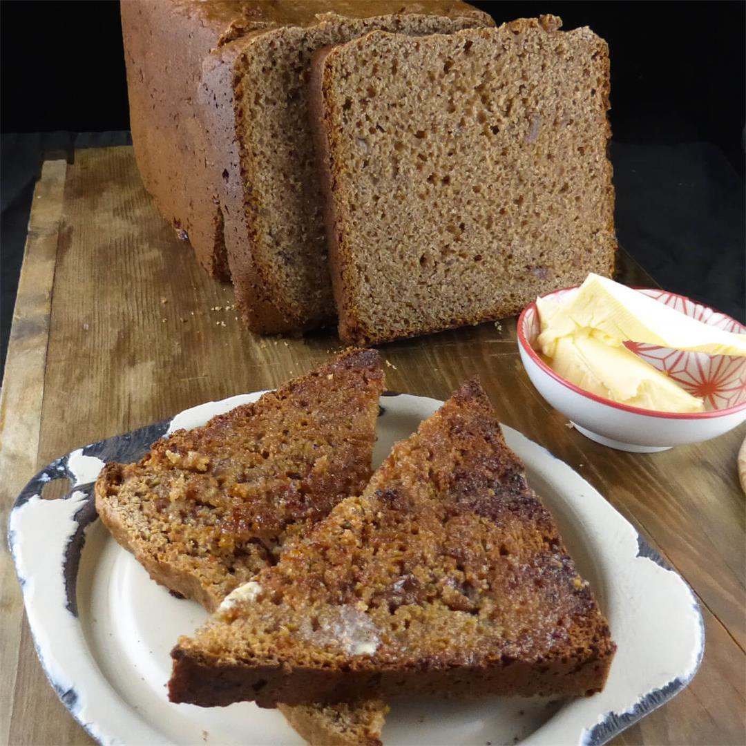 Wholemeal Spelt Cinnamon Toast Bread (bread machine)
