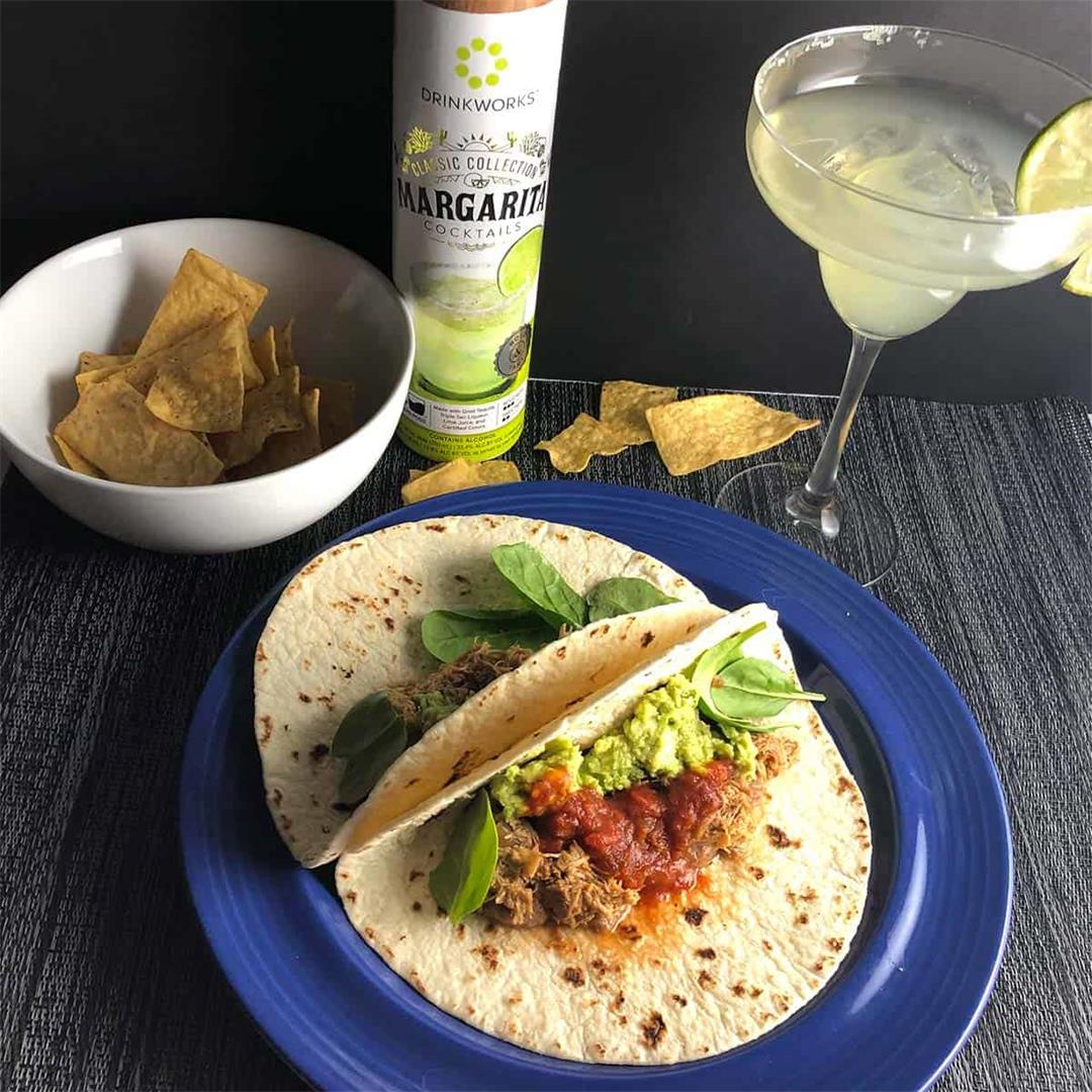 Taco Night: Easy Margaritas with Pulled Chicken Tacos