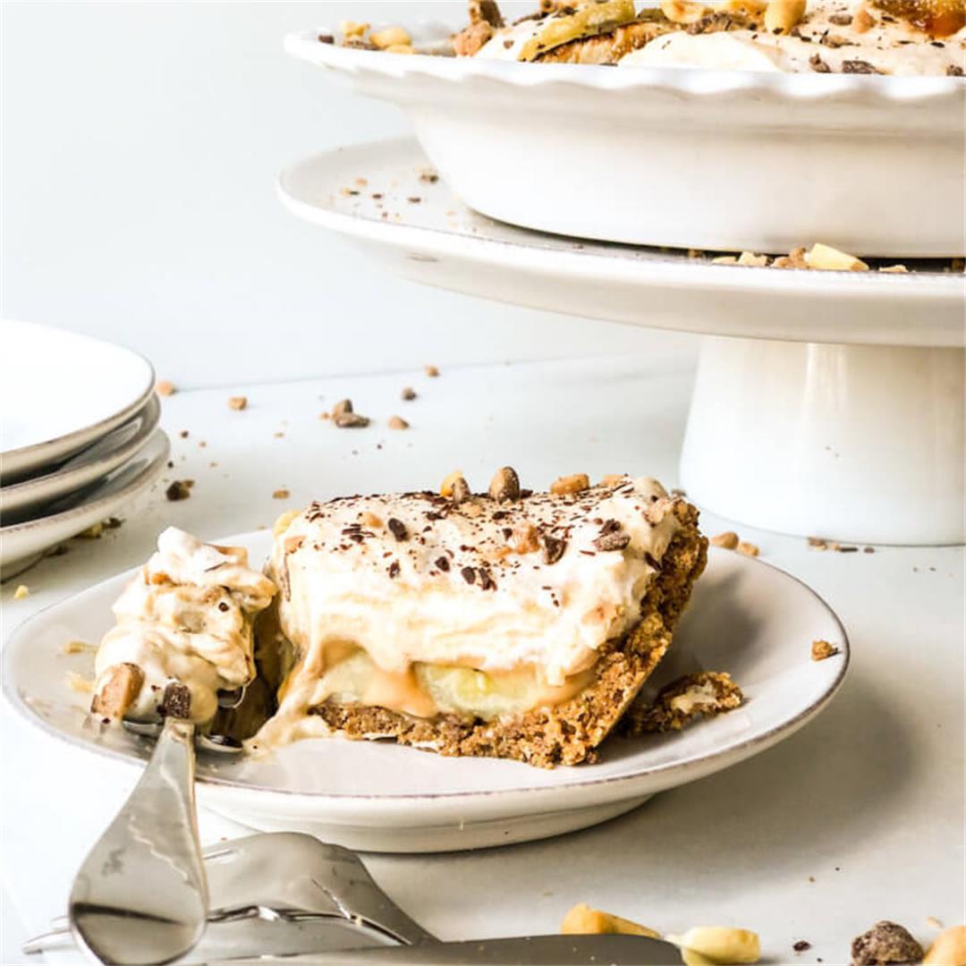 Peanut Butter Banoffee Pie