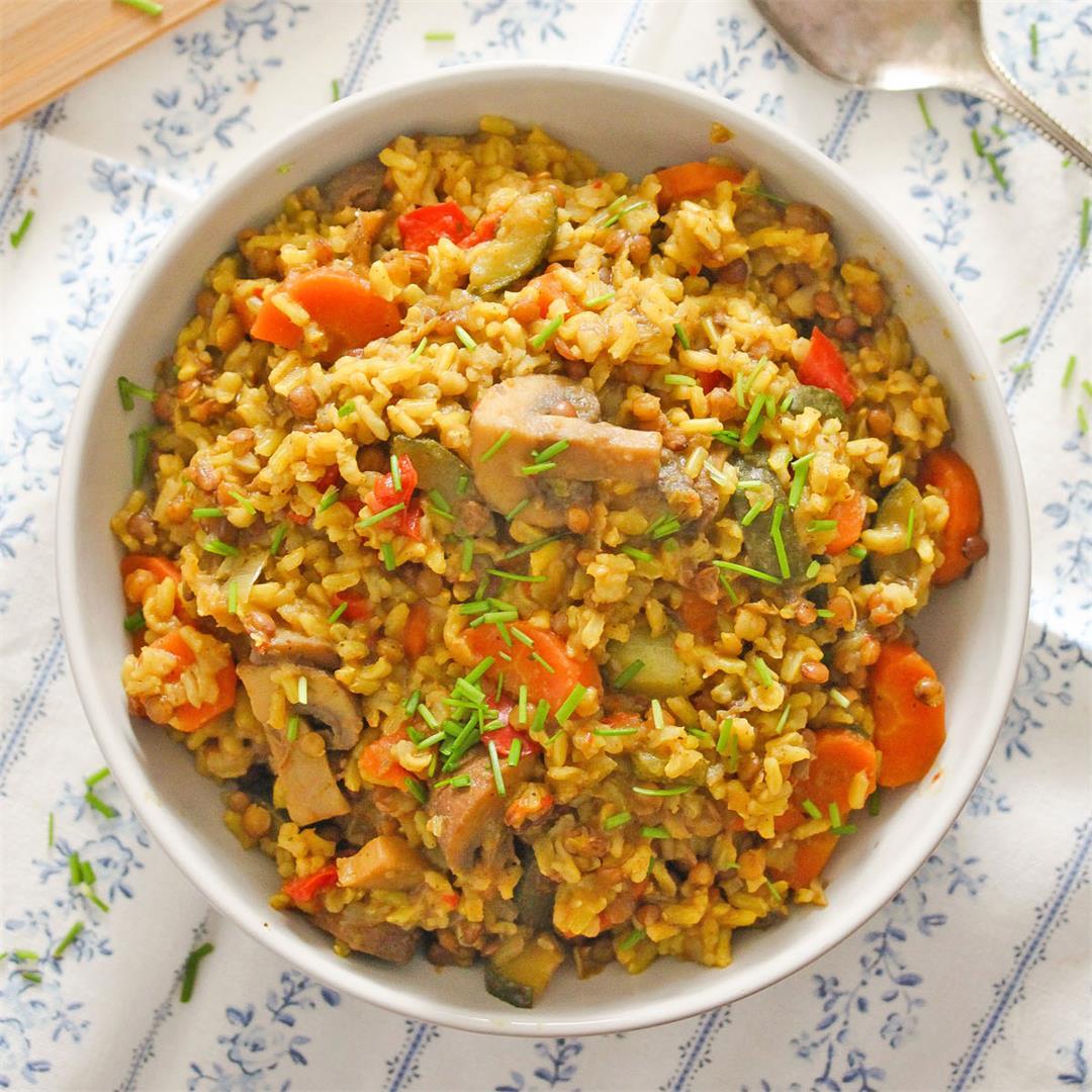 One-Pot Vegan Pilaf