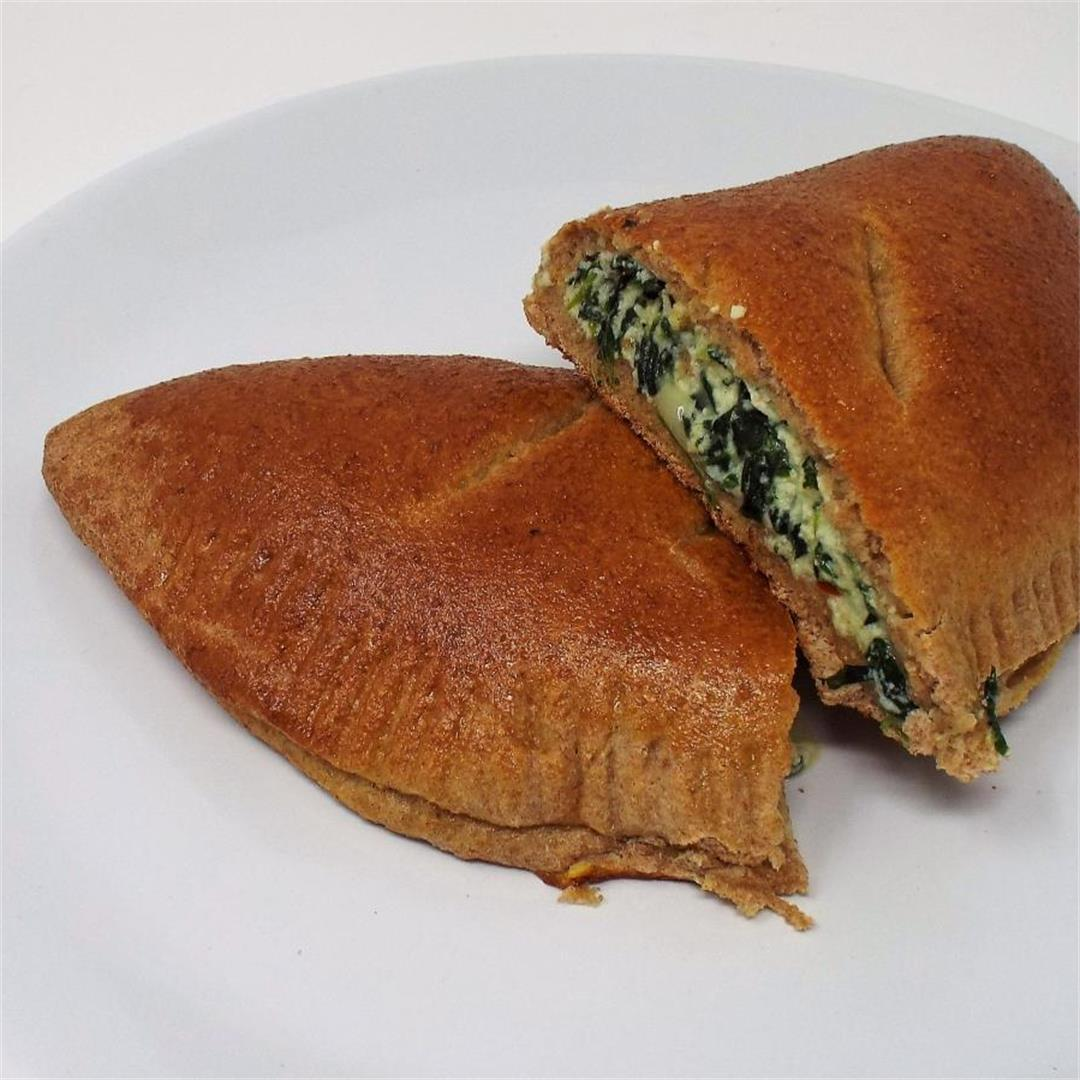 Whole Wheat Spinach and Ricotta Calzones