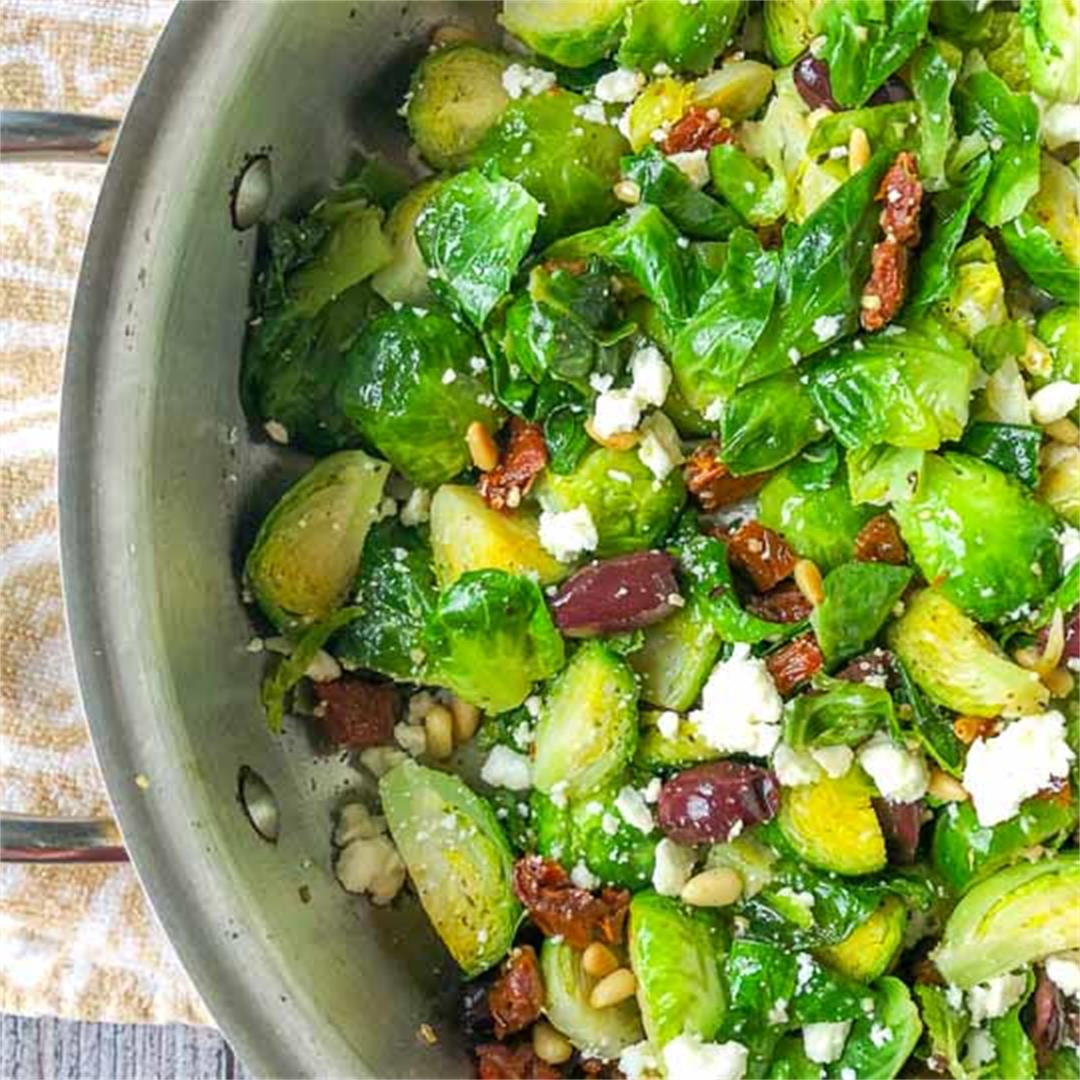 Mediterranean Low Carb Brussels Sprouts