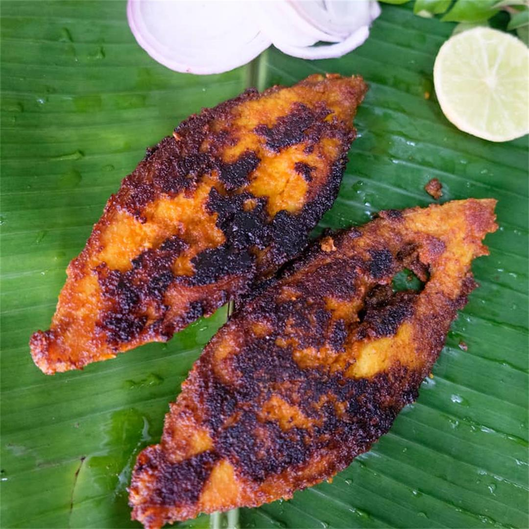 Fish fry with shallots and coconut- Sumati Aunty's Fish Fry rec