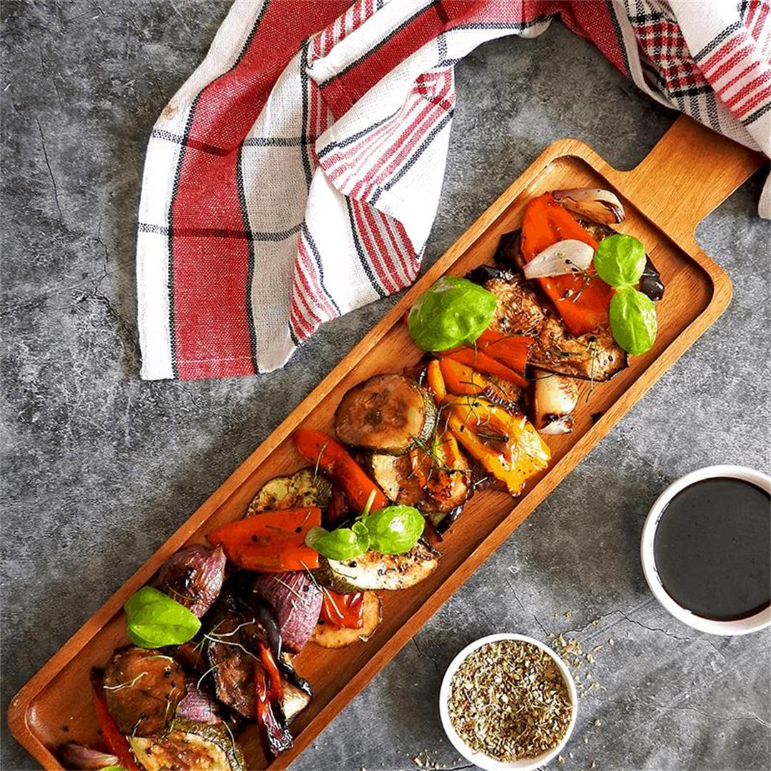 Balsamic Mediterranean Roasted Vegetables Recipe