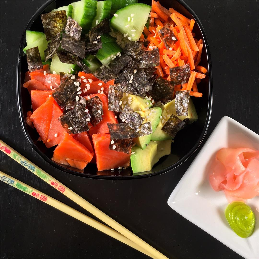 Deconstructed Sushi Bowl (California Roll Style)