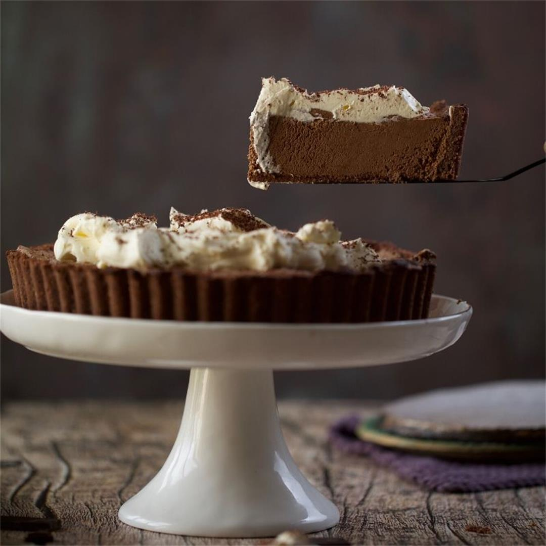 Keto French Silk Pie (Keto Chocolate Pie)