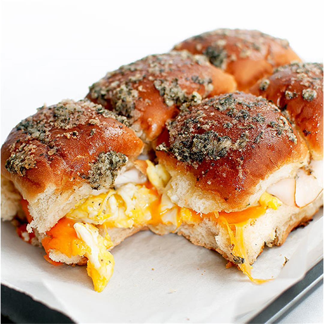 Easy Cheesy Breakfast Sliders for Game Day