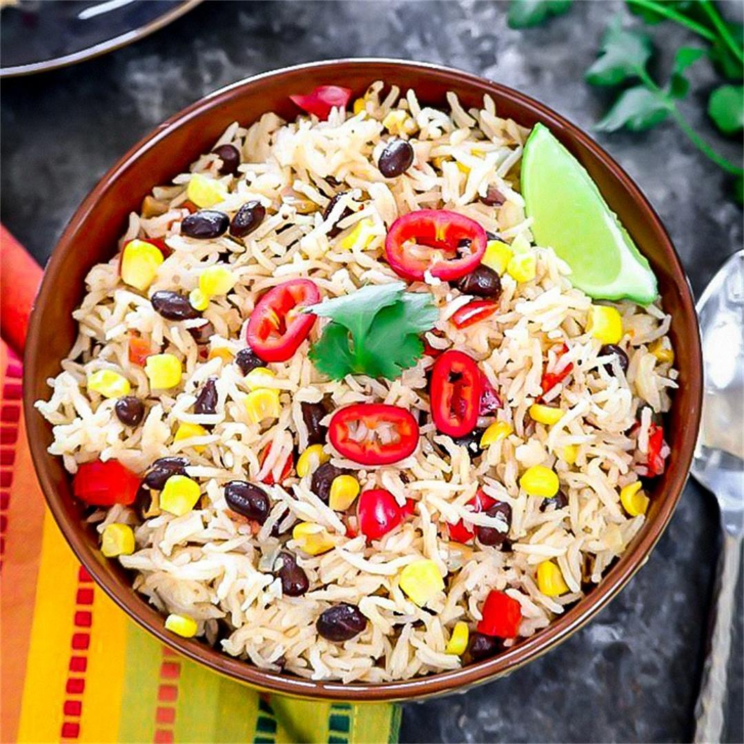 Instant Pot Fiesta Rice (Mexican Fiesta Rice)
