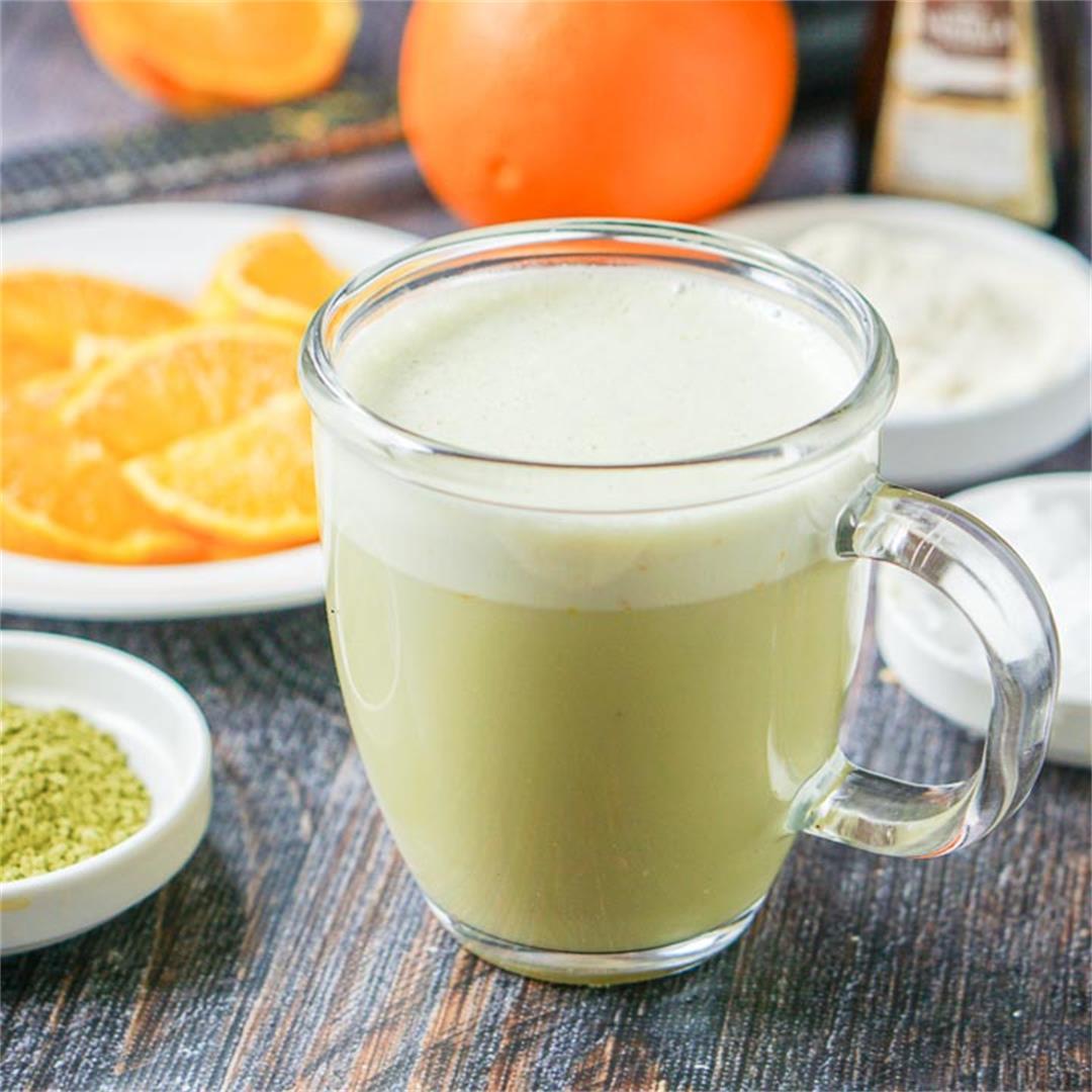 Low Carb Orange Creamsicle Protein Matcha Green Tea Drink