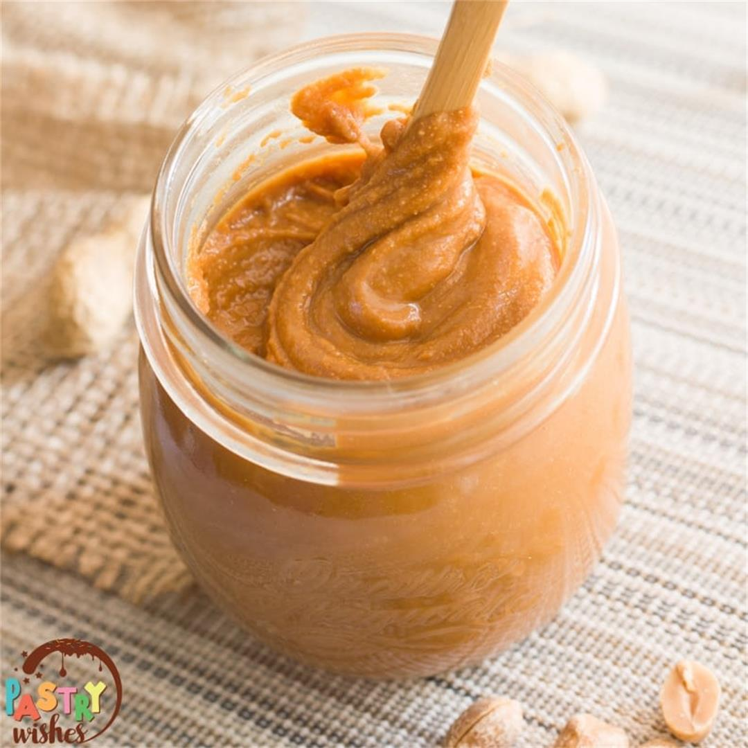 HOW TO MAKE HOMEMADE PEANUT BUTTER (Step-by-step Tutorial) -