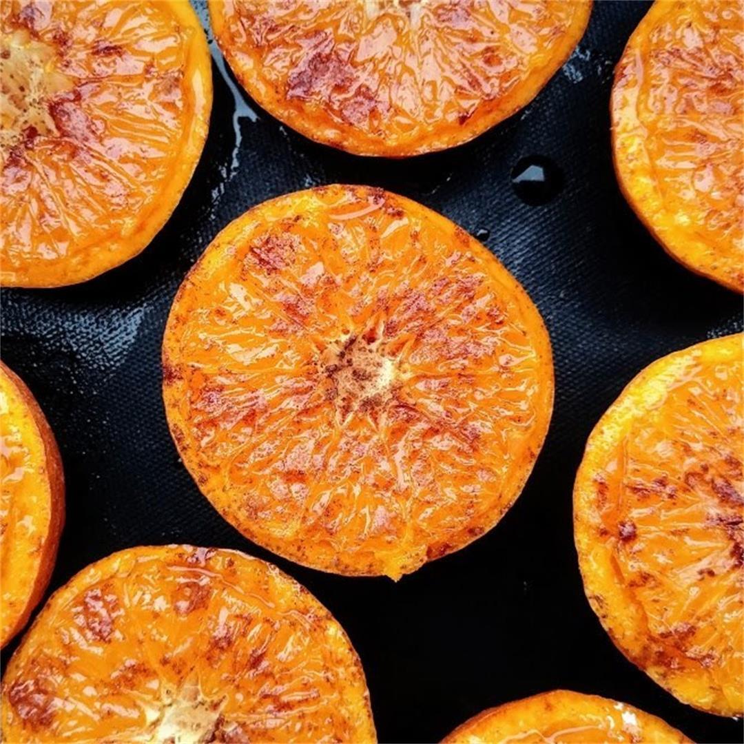 Roasted Cinnamon Sugar Oranges