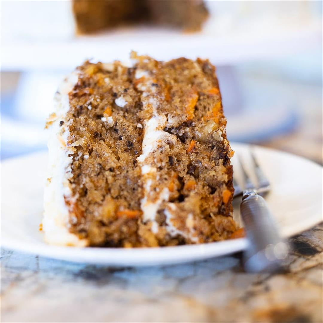 Carrot Cake with Pineapple and Toasted Coconut Recipe