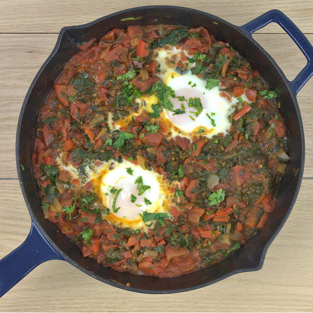 Easy Shakshuka with Spinach – A Gourmet Food Blog