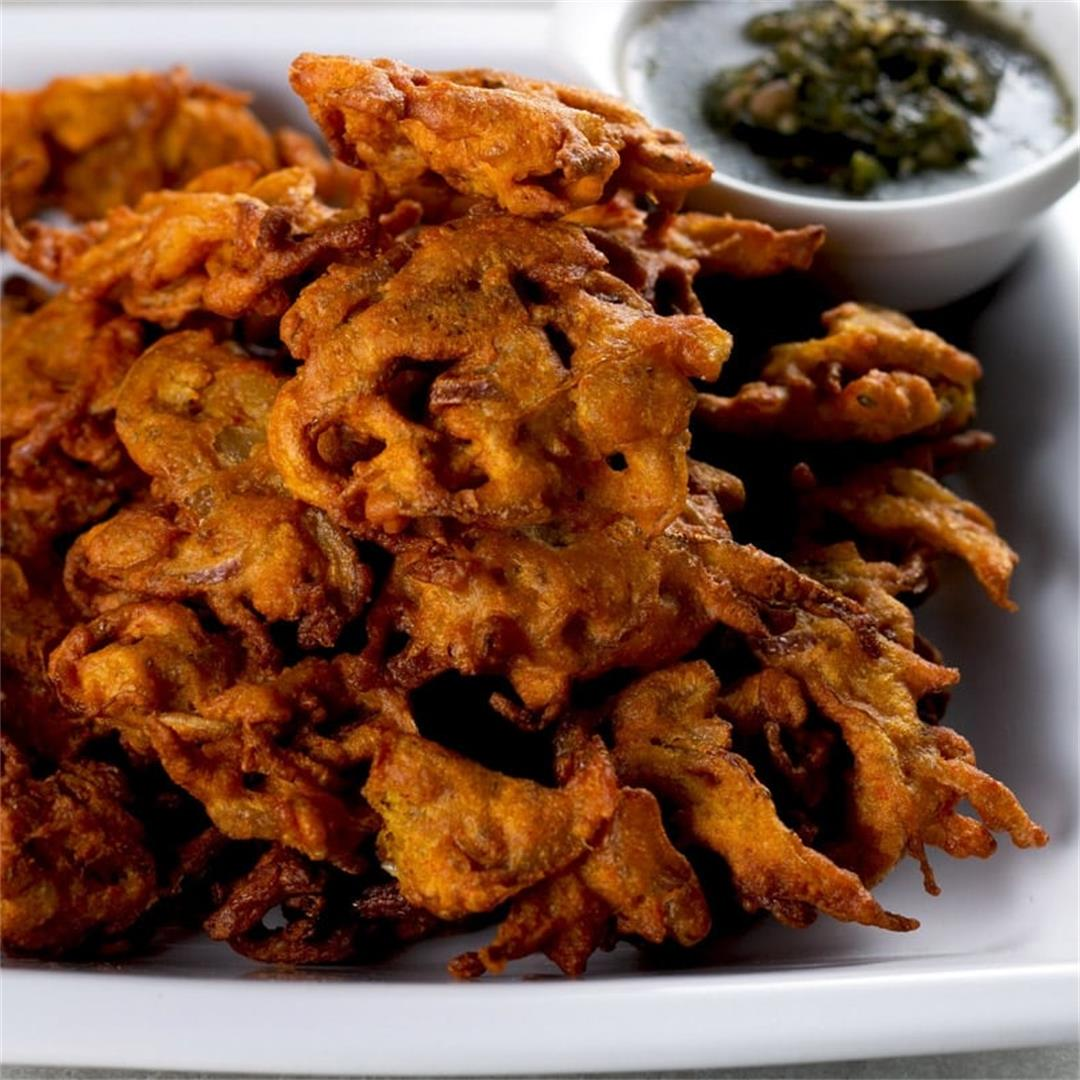 Authentic Spicy Onion Pakoras