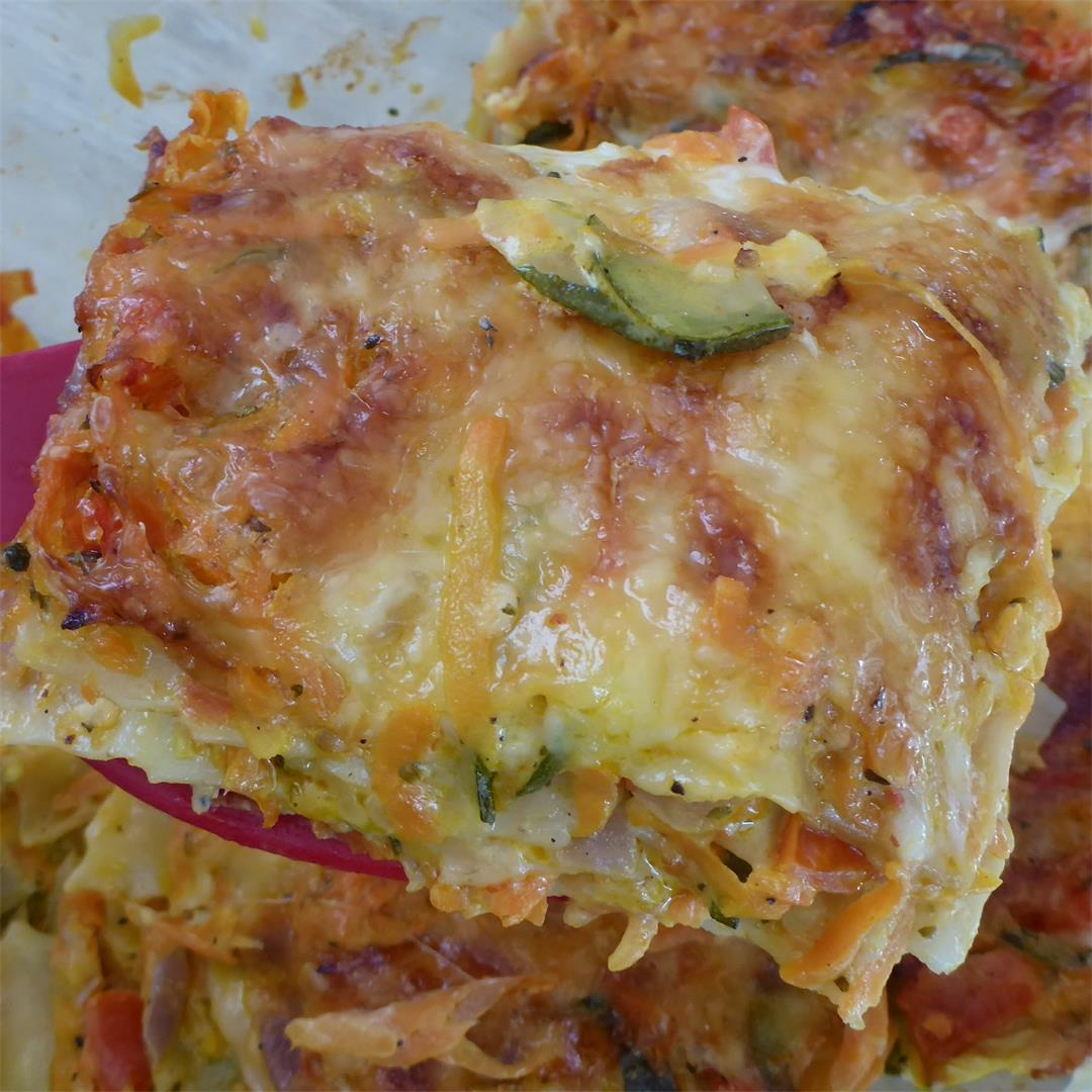 Best Carrot and Zucchini Lasagna (vegetarian)