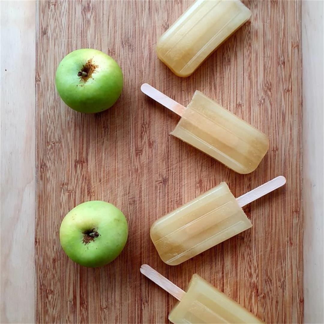 Easy apple popsicles
