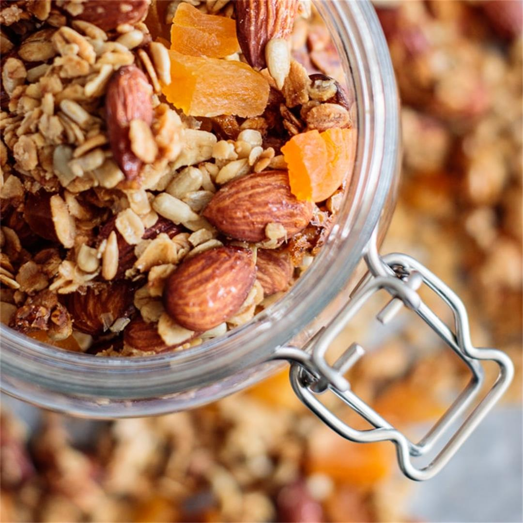 Ginger Apricot Spring Granola – Milk and Pop