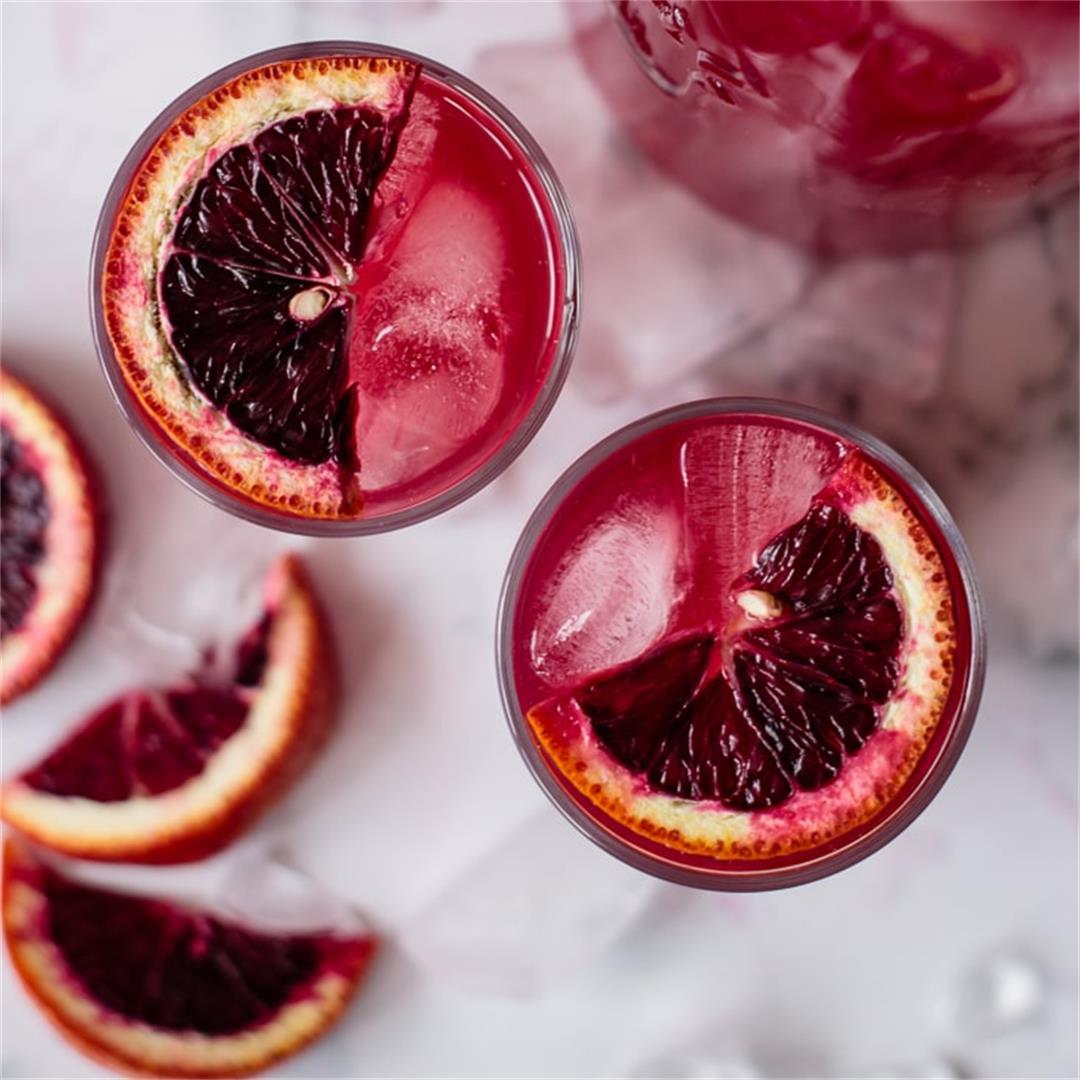 Blood Orange Lemonade (Winter Lemonade) – Milk and Pop