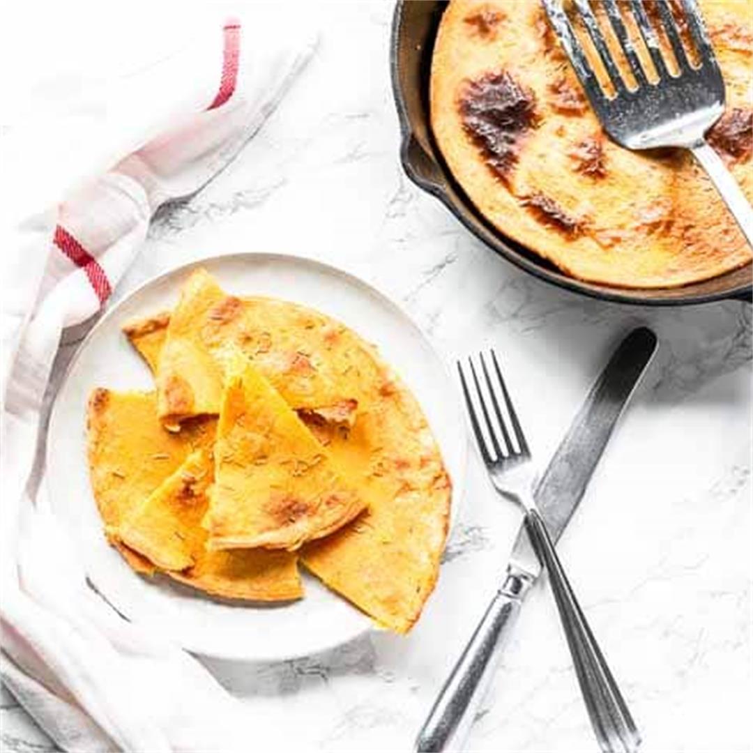 Italian Farinata chickpea pancake