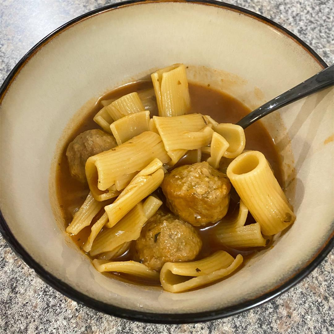 Meatball Rigatoni Soup