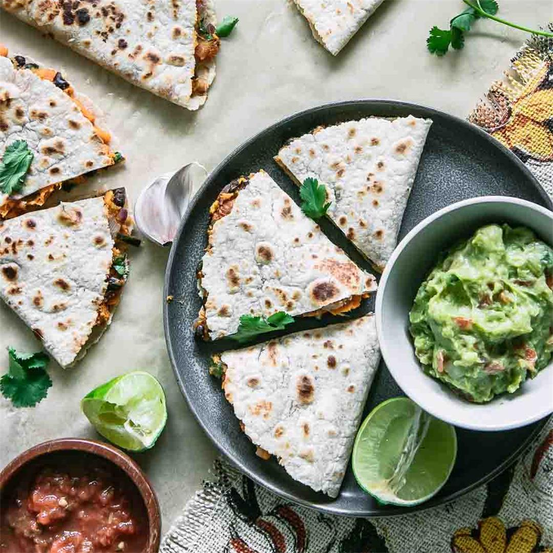 Vegan Sweet Potato Quesadilla (Yamadilla)