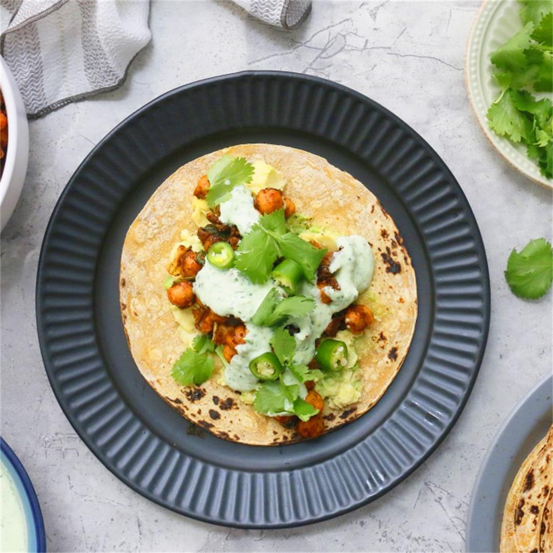 Chickpea Tacos with Cilantro Lime Sauce - Kitchen @ Hoskins