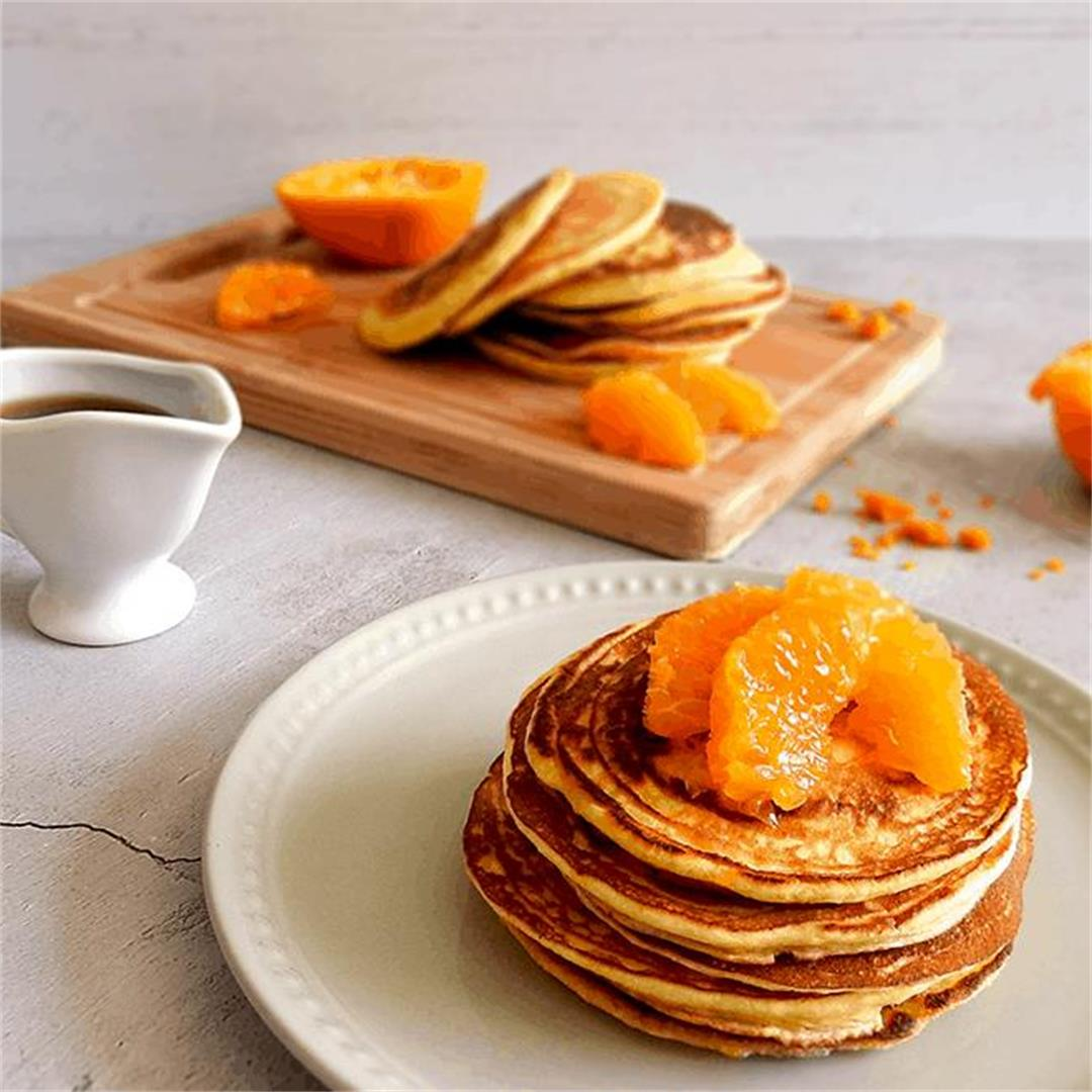 Mandarin Scotch Pancakes Recipe