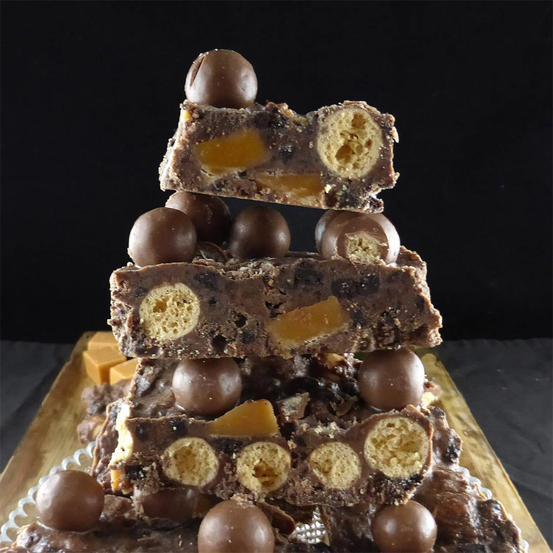 Oreo and Fudge Chocolate Slice with Maltesers (no bake)