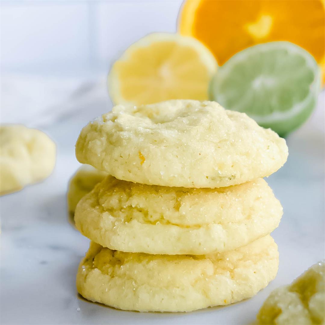 Triple Citrus Sugar Cookies