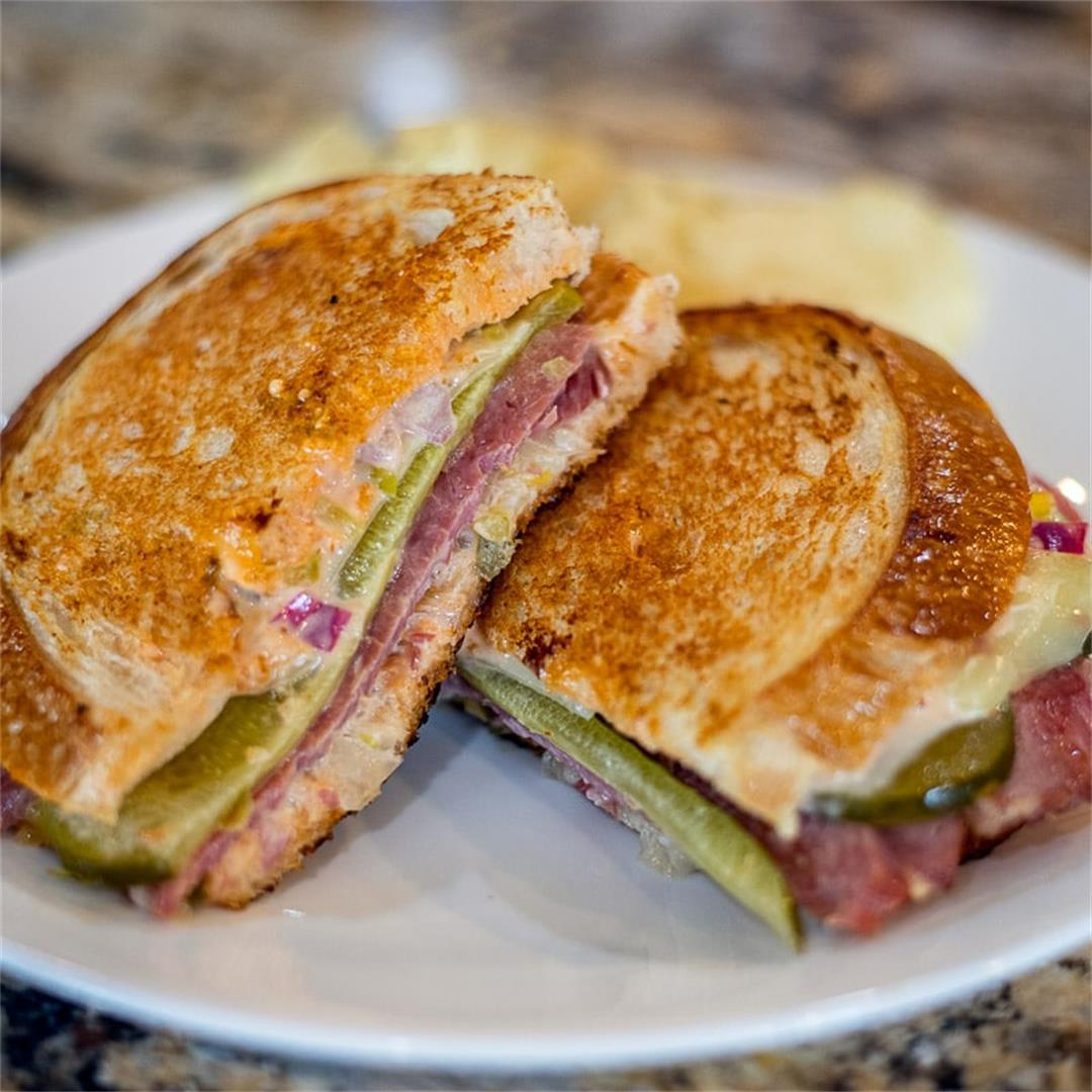 Reuben Sandwich Recipe on sourdough