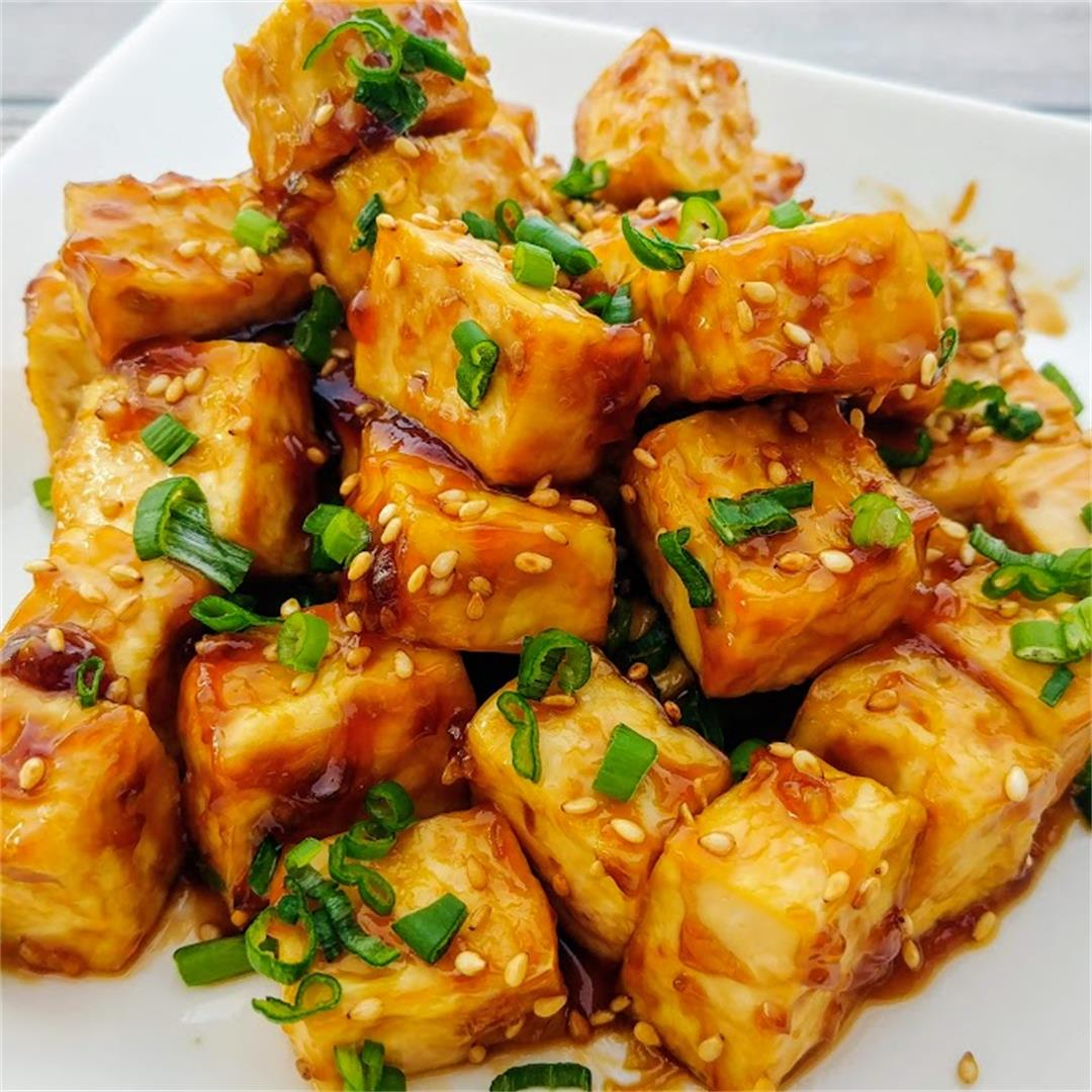 General Tso Tofu (Air Fryer Recipe)