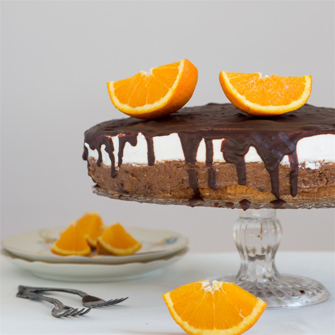 Chocolate Orange Cake with Meringue (Vasina Torta)