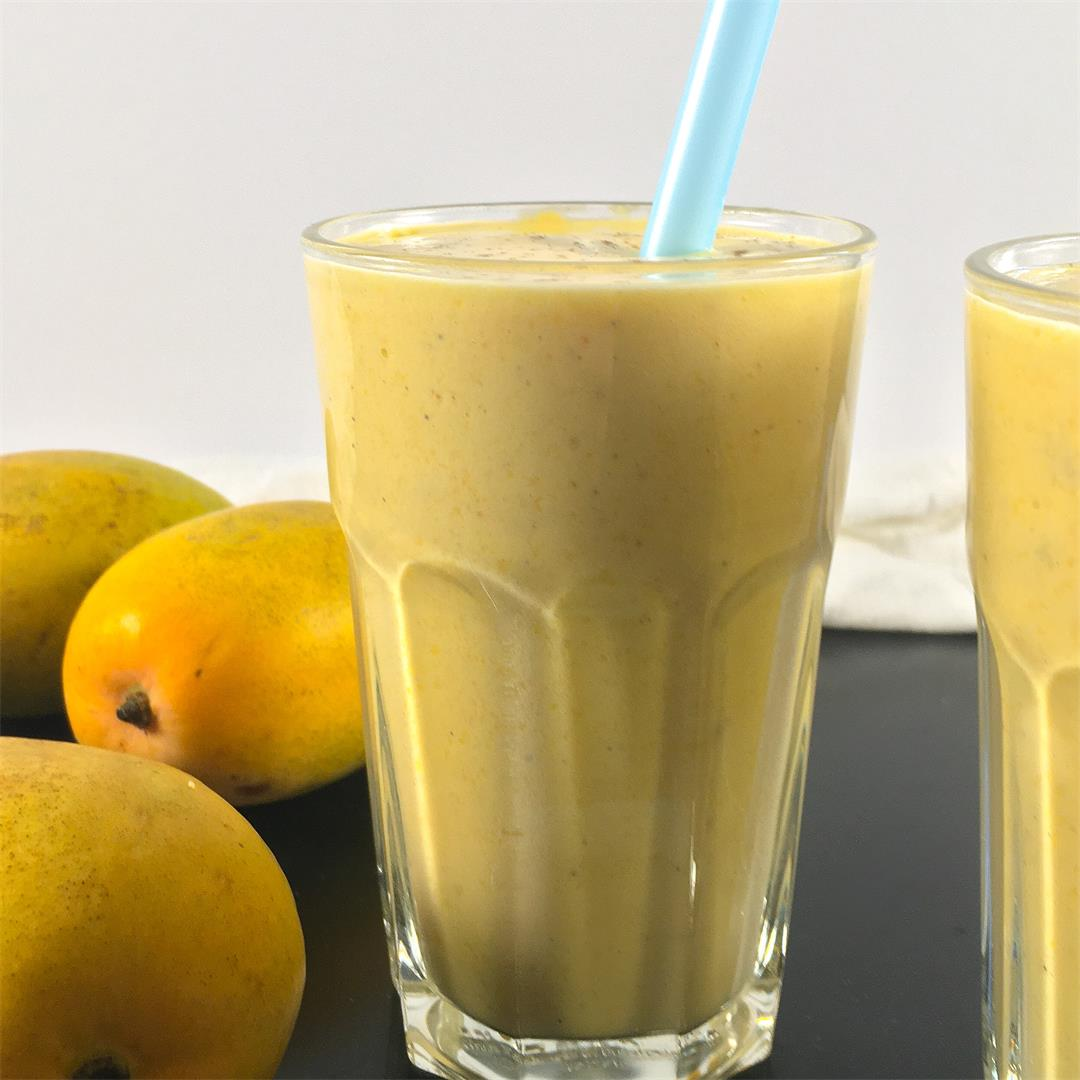 Mango Lassi Smoothie- No Added Sugar!