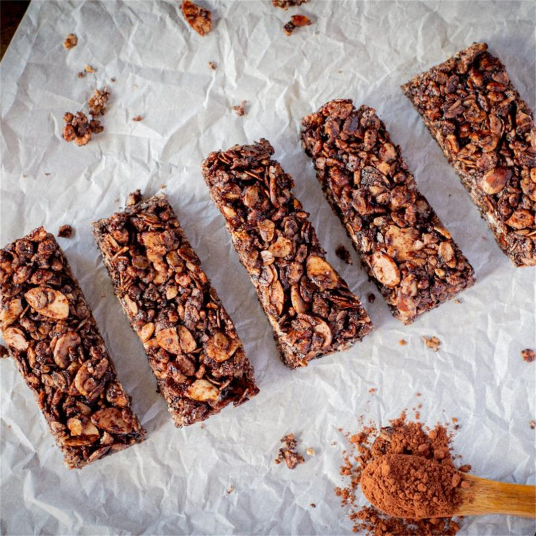 Dark Chocolate Almond Granola Bars