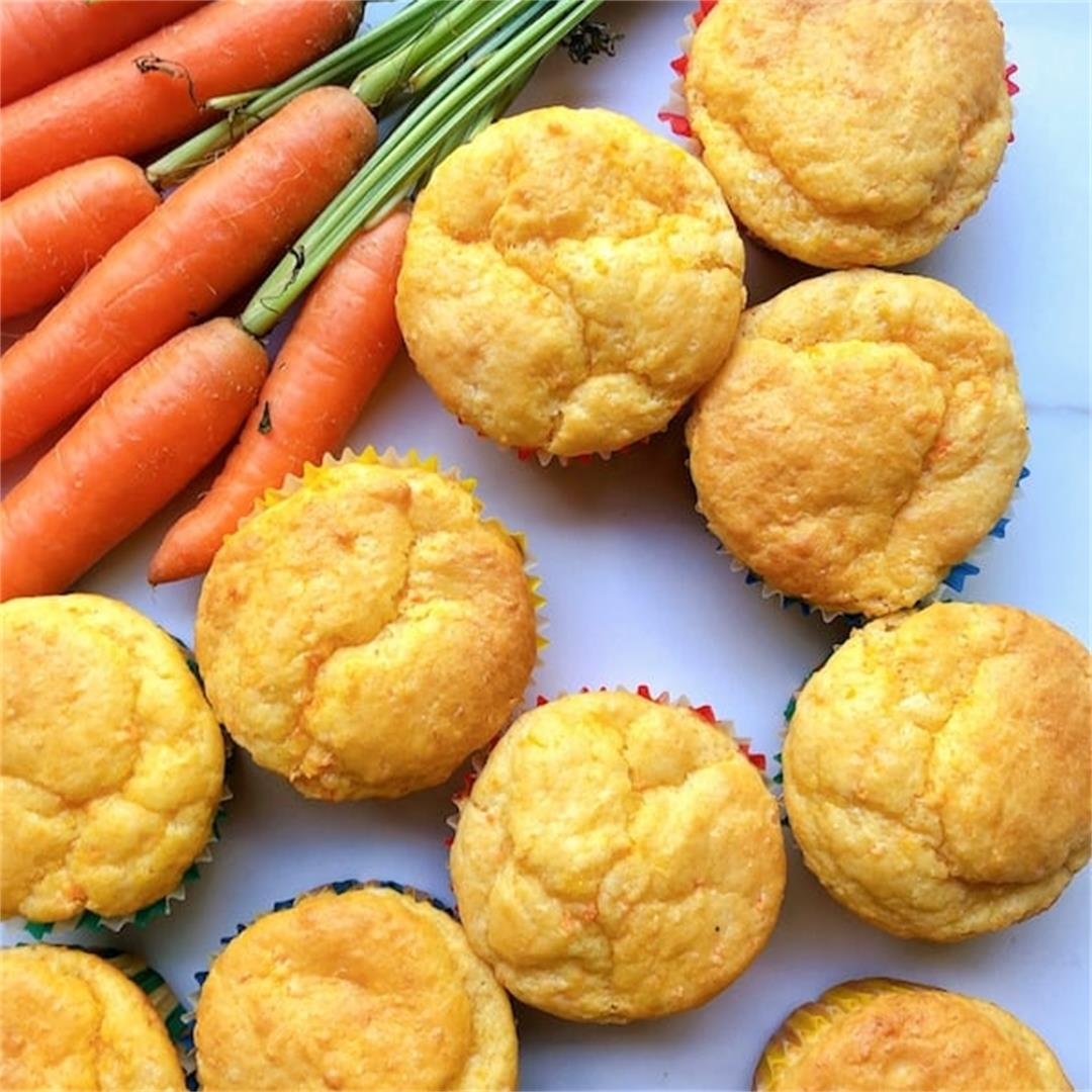 Carrot and Cheese Muffins Thermomix Recipe