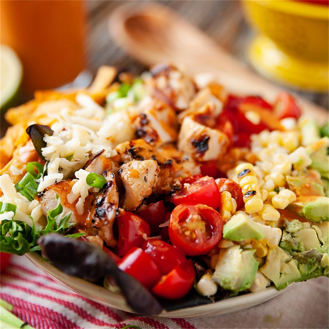 Southwest Chicken Cobb Salad with Chipotle Lime Dressing