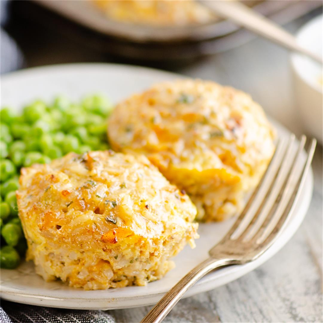 Buttery Tuna Rice Muffins