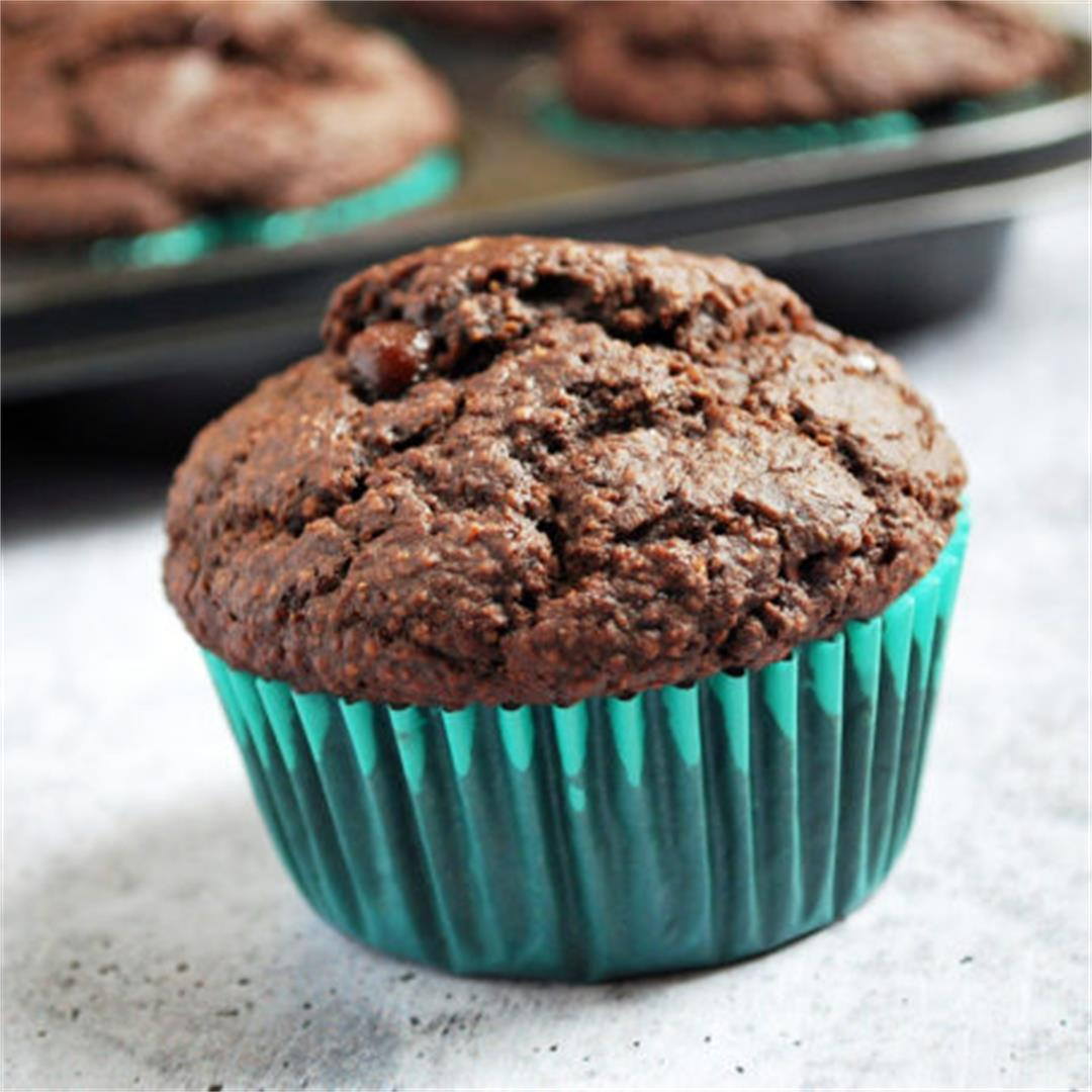 Double Chocolate Gluten-Free Bran Muffins- Amee's Savory Dish