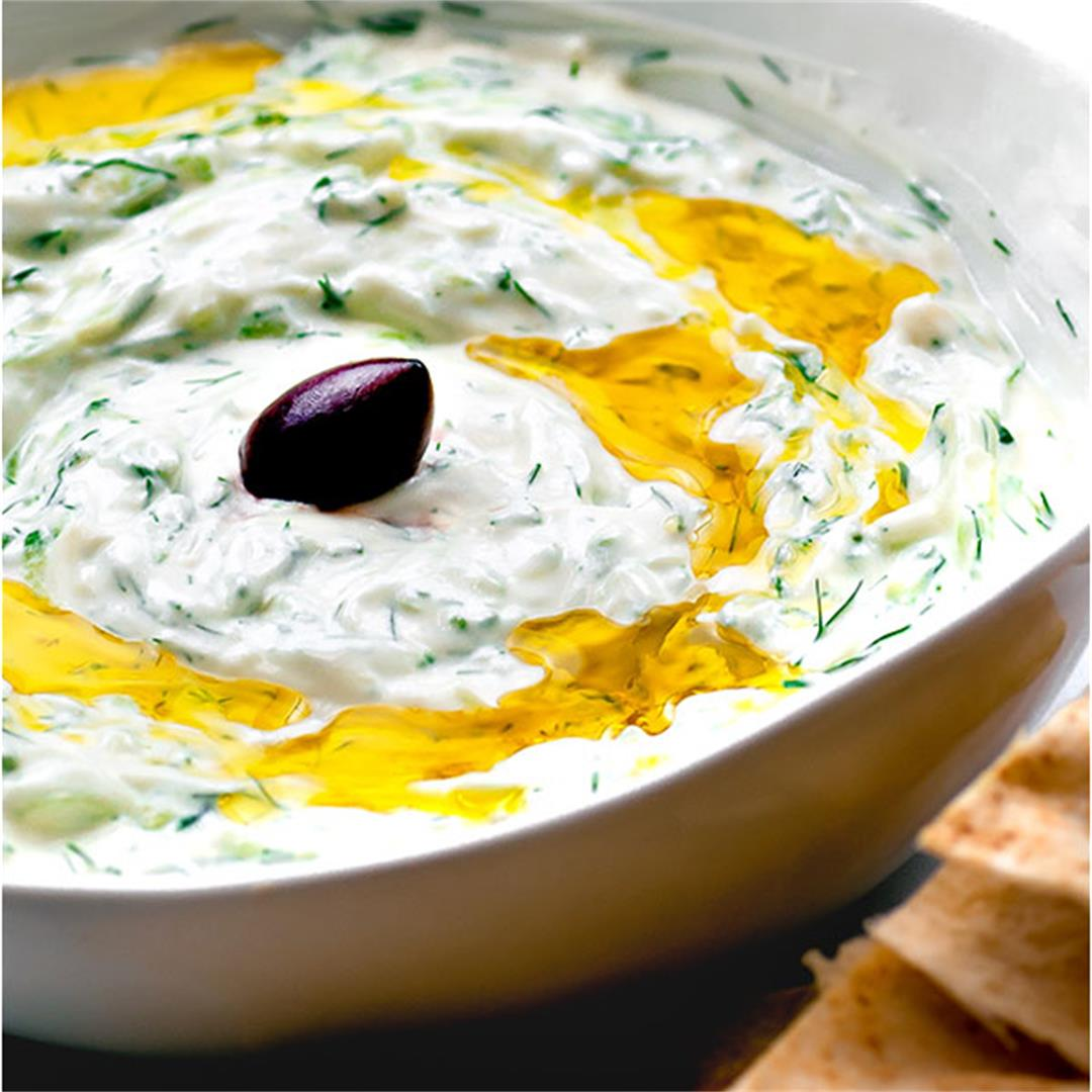 Authentic Tzatziki (Greek Cucumber Yogurt Sauce)