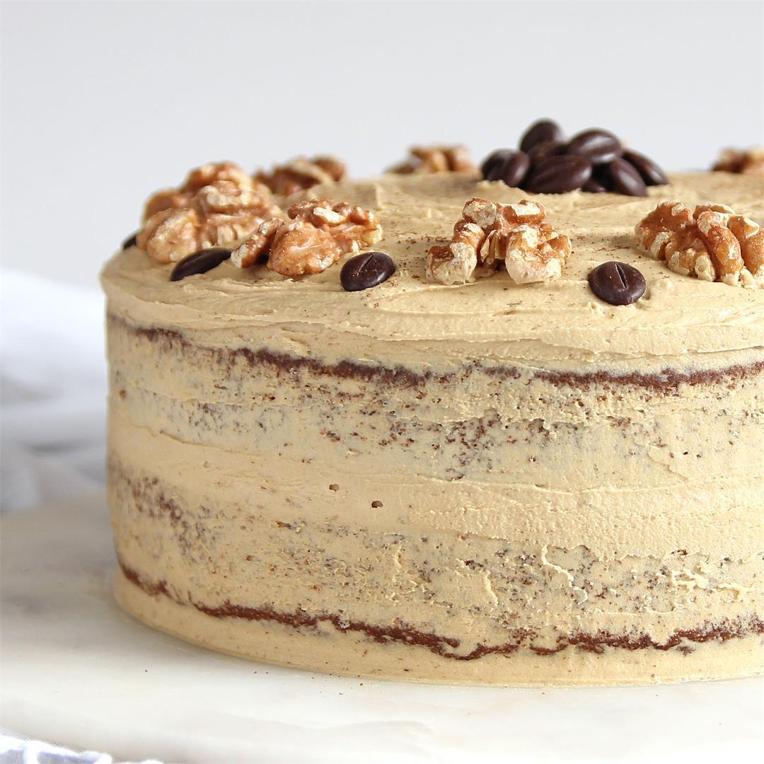 Coffee and Walnut Cake - gluten free